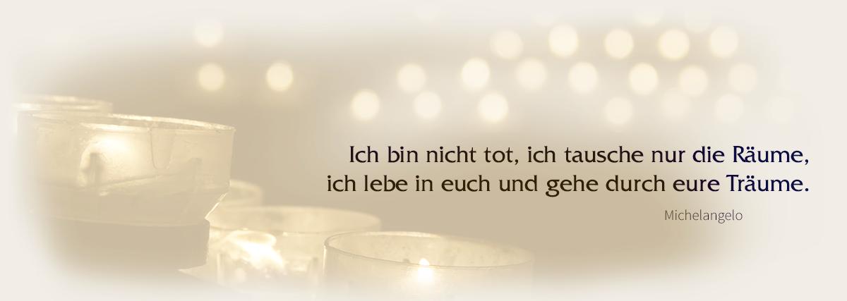 Kerzen als Andenken - Schmidt Grabsteine - Bestattermeister Vohenstrauß Oberpfalz